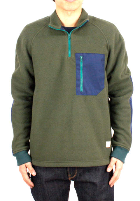 アクティビティフリース Activity Fleece -Loden/Ceil Blue-