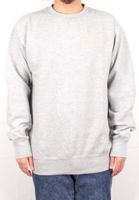 クルーネックスウェット Embroidered Logo Crewneck - Heather-