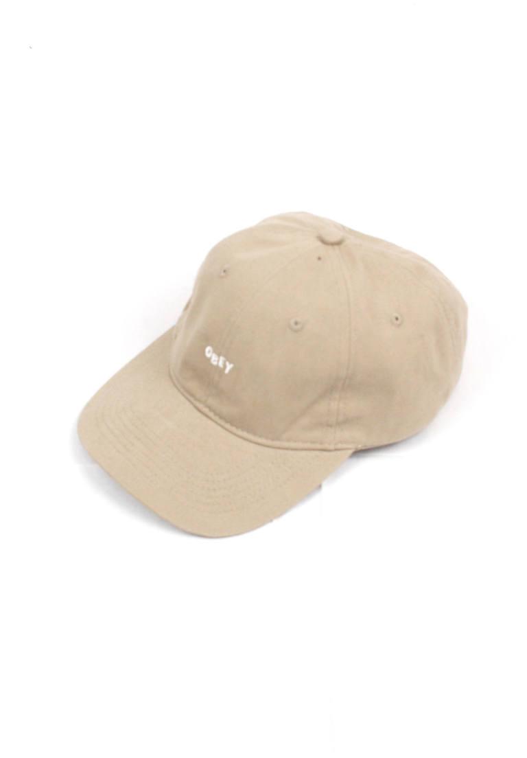 73a4e76f7e2 OBEY - ロゴキャップ White Jumble Khaki Strapback Hat -Beige Khaki ...
