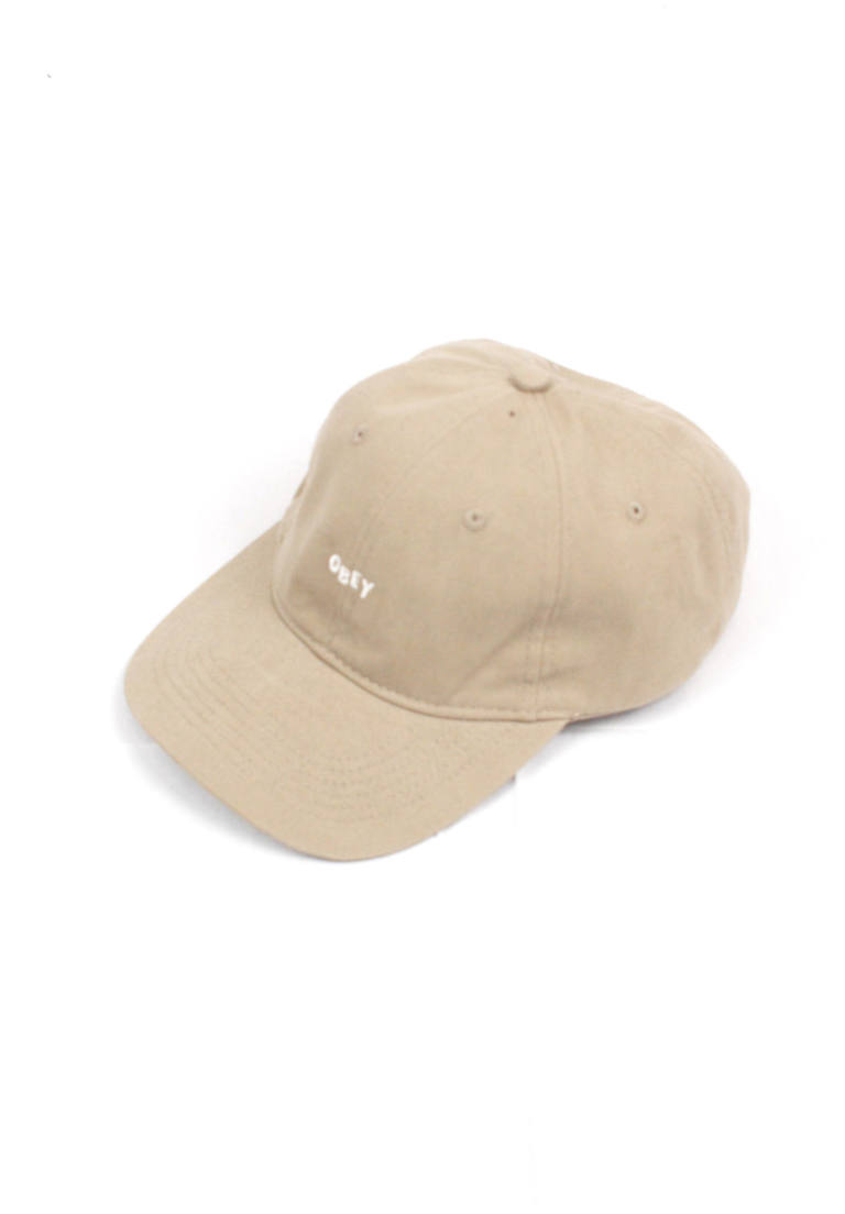 64544dc2707 OBEY - ロゴキャップ White Jumble Khaki Strapback Hat -Beige Khaki ...