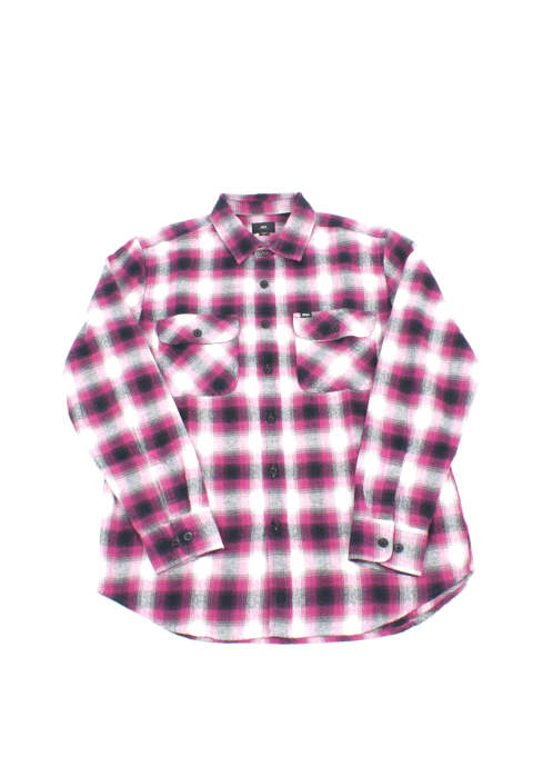 ロングスリーブ チェックシャツ  Obey Mission Longsleeve Shirt -Rasberry Multi-