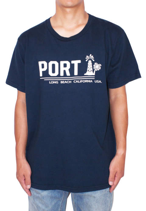 プリントTシャツ Oil Palm Logo Tee -Navy-