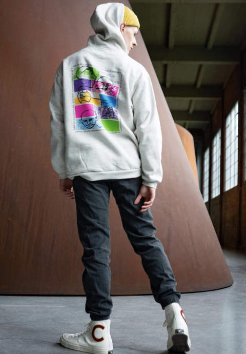 "プルオーバーパーカー ""The Culture"" Hoodie -Cream Heather-"