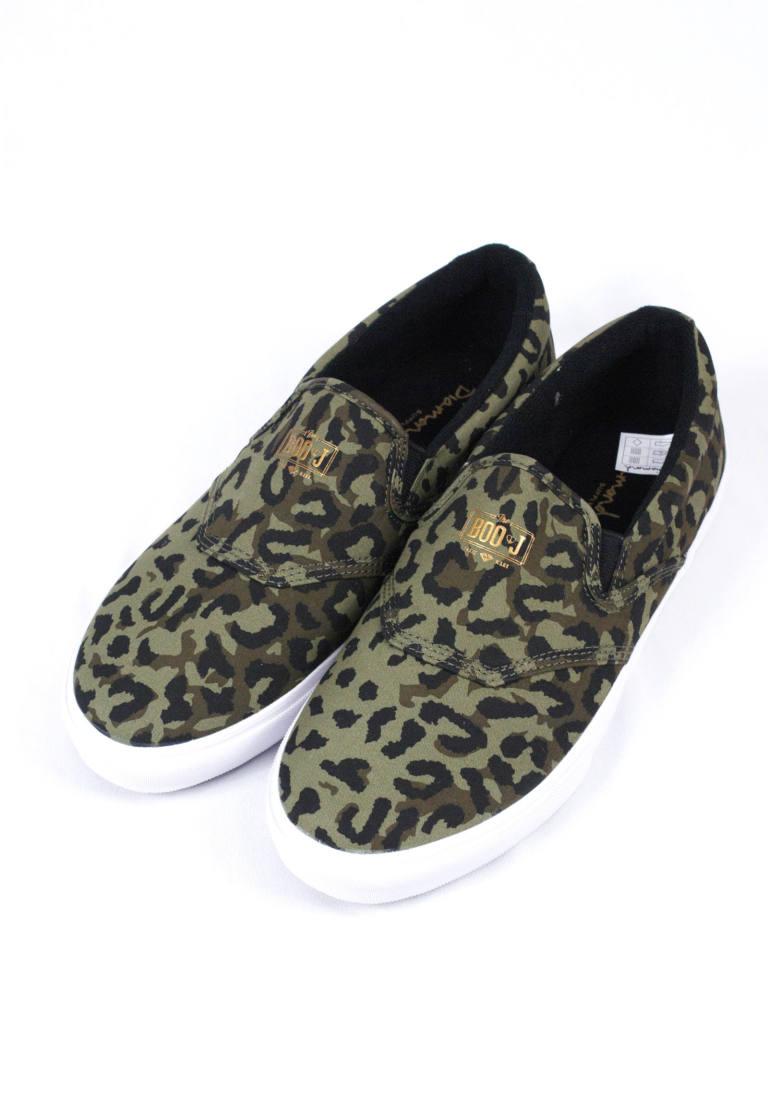 d225ce0cd Diamond Supply Co. チーター柄スリッポン Boo J Cheetah & White Slip-on Skate Shoes ...