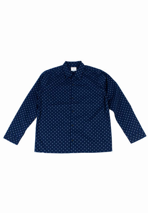 ドットシャツ Larry Shirt -Navy Print-