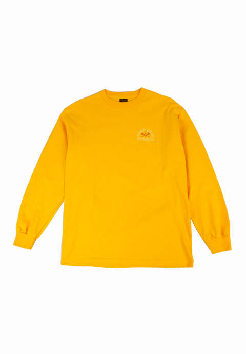 ロングスリーブカットソー Outlines Long Sleeve T-Shirt -Gold-