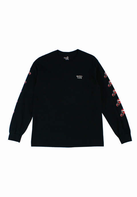ロングスリーブカットソー Venom Lips Long Sleeve T-Shirt -Black-