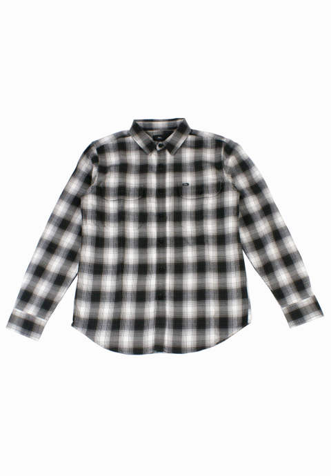 チェックシャツ L/S Checked shirt -White&Black-