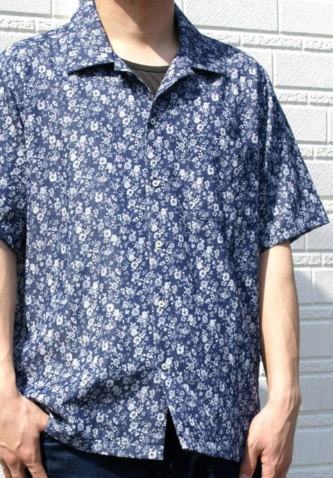半袖シャツ Easy Shirt -Mini Floral-