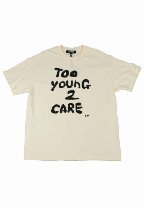 半袖Tシャツ Too Young 2 Care -Cream-