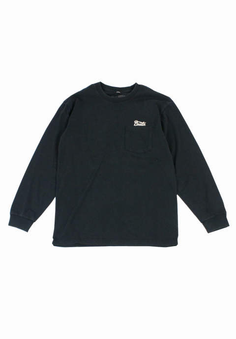 ポケット ロンTee  Potrero Pocket L/S Tee -Black-
