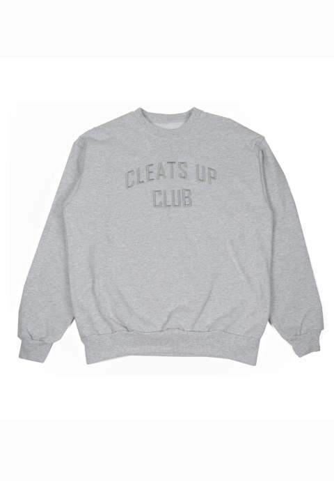 クルーネックスウェット Cleats up Club Needle Crew -Gray-