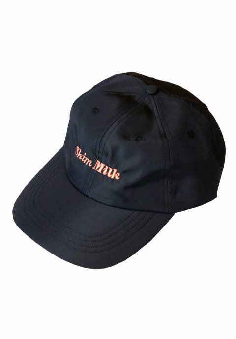 6パネルキャップ Skim Milk Logo Cap -Black-