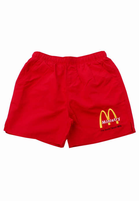 水陸両用ショーツ McINISTRY Swimming Trunks -Red-