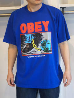プリントTシャツ World Domination T-Shirt - Royal Blue